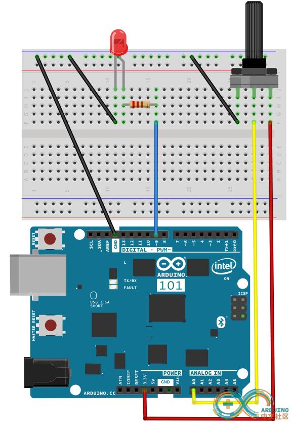 呼吸灯 lm385 电路图